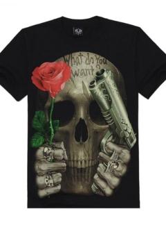 Dark Style skull wolfs t-shirt