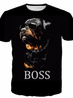 Dogs Rottweiler boss t shirt