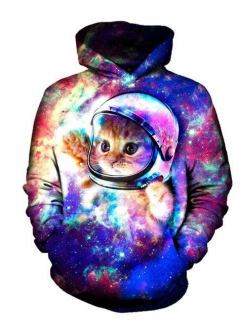 Space Kitten 3D hoodie