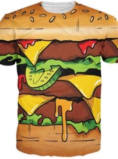 Food burger over load t-shirt