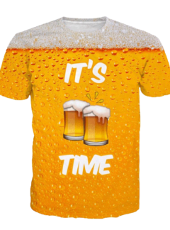 Beer its beer time 3D t-shirt