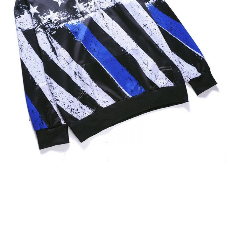 Blue American Flag Hoodie 4