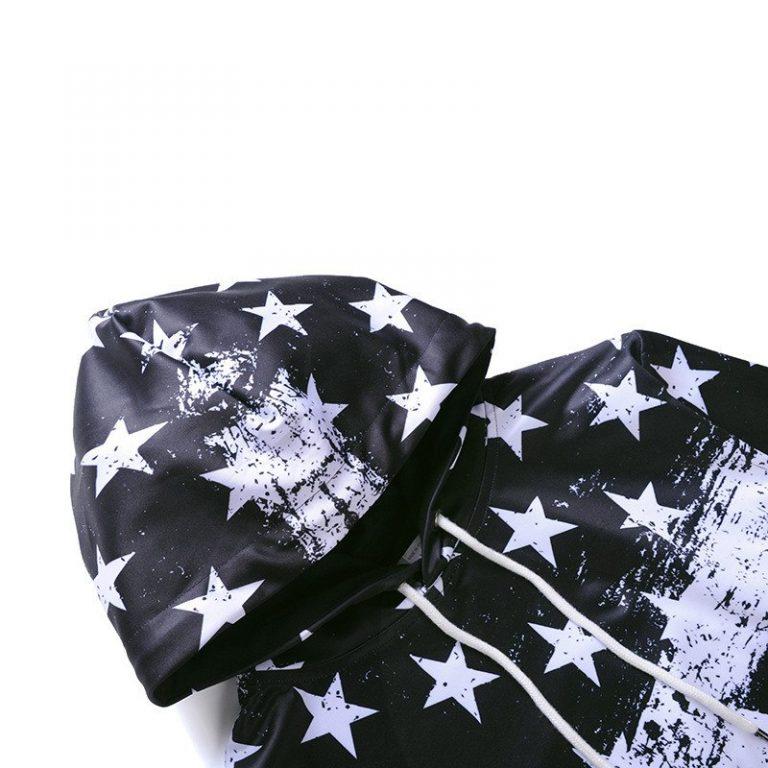 Blue American Flag Hoodie 3